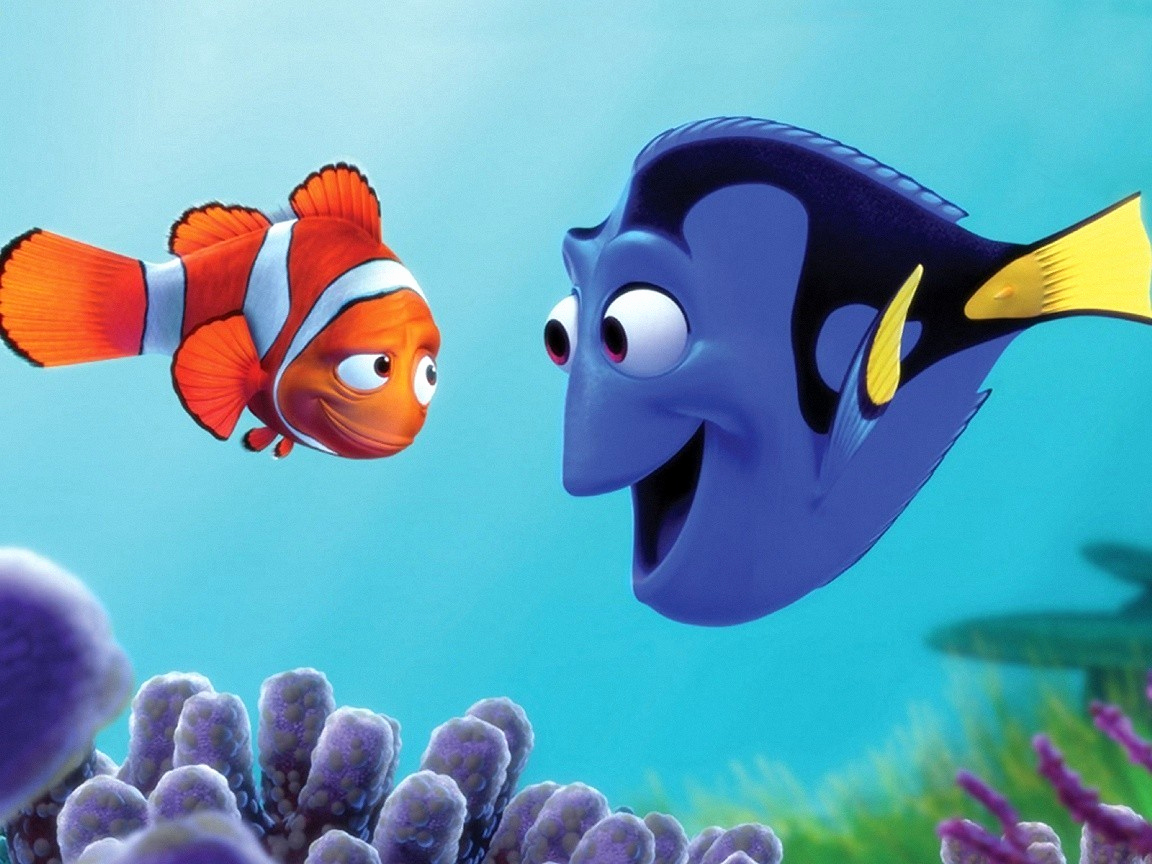 Finding images pinterest nemo. Dory clipart blue fish banner black and white stock