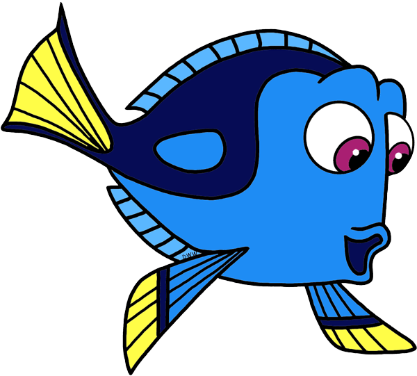 Finding nemo disneybound outfit. Dory clipart blue fish clip black and white library
