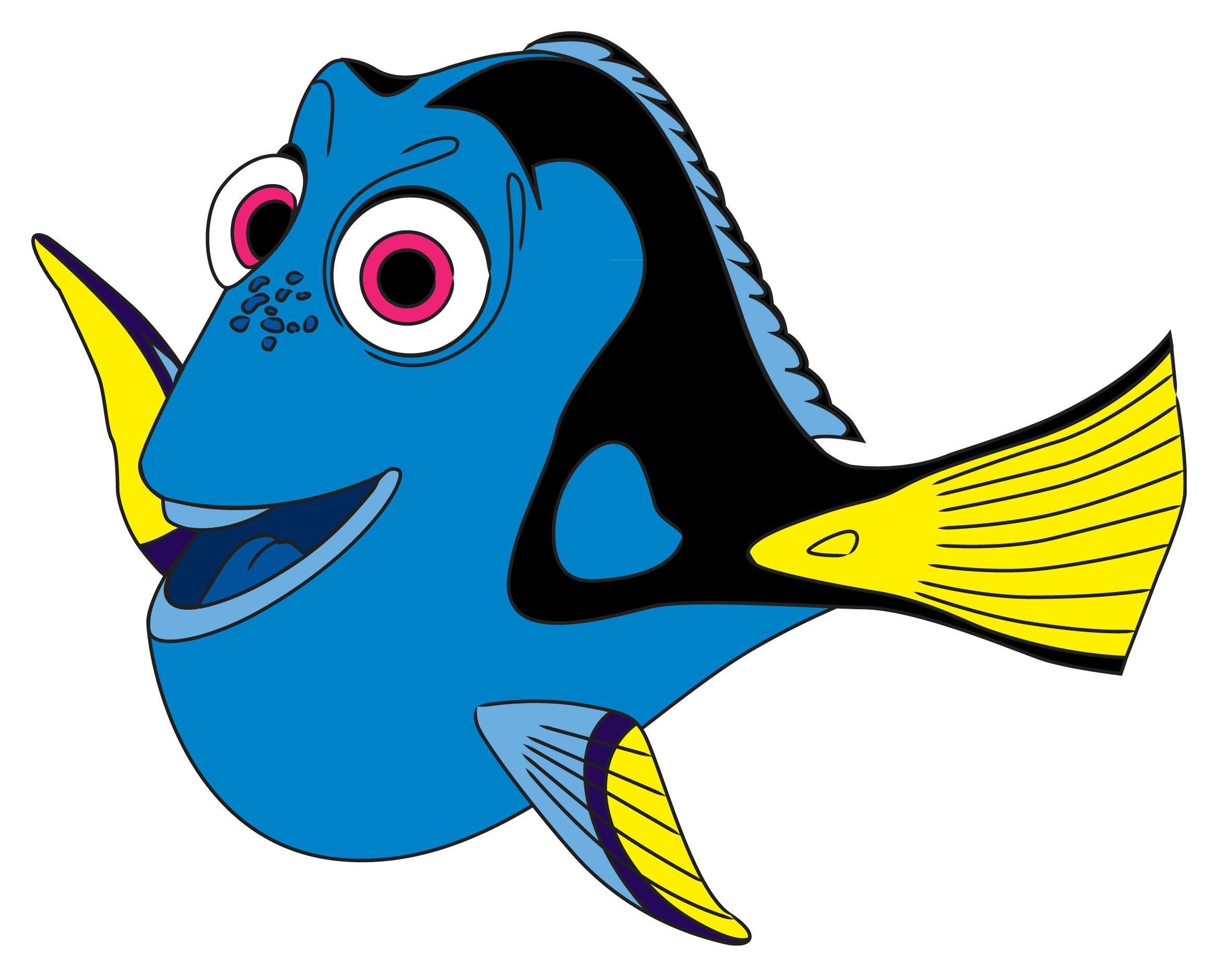 Dory clipart blue fish. How to draw from