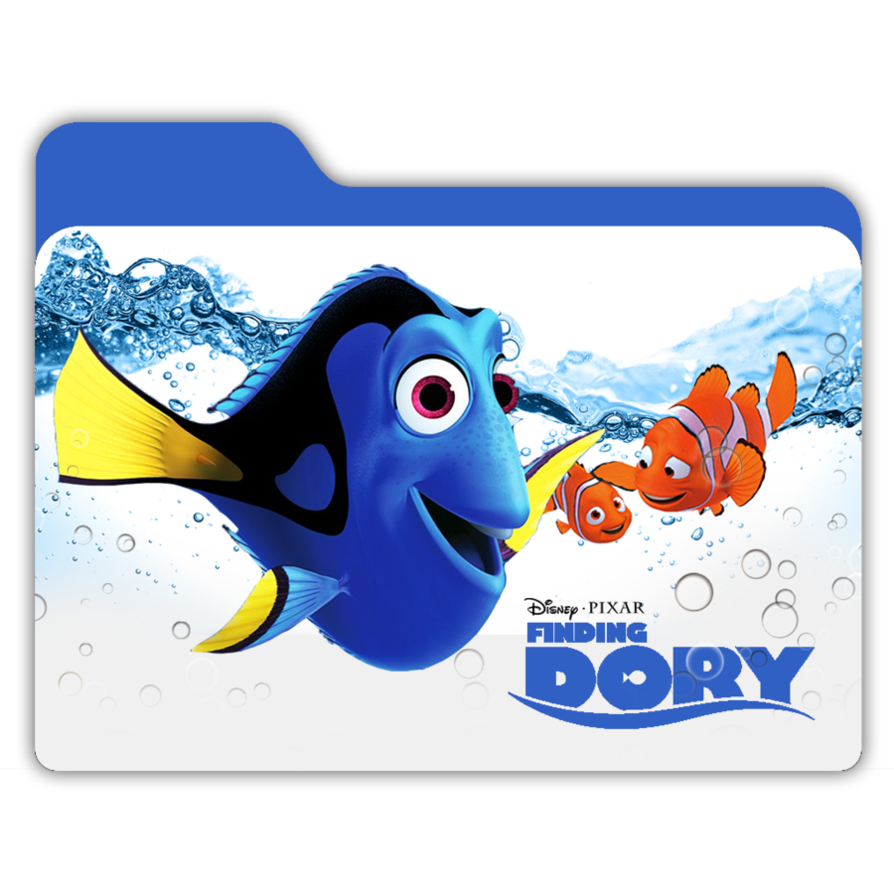 Dory png stickers. Finding folder by janosch