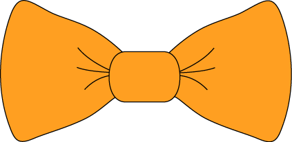 orange bow png