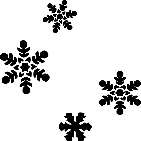 Dot clipart snow. Flakes clip art at
