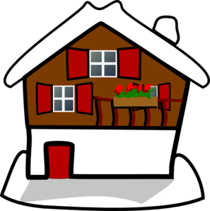 Dot clipart snow. House covered in clip