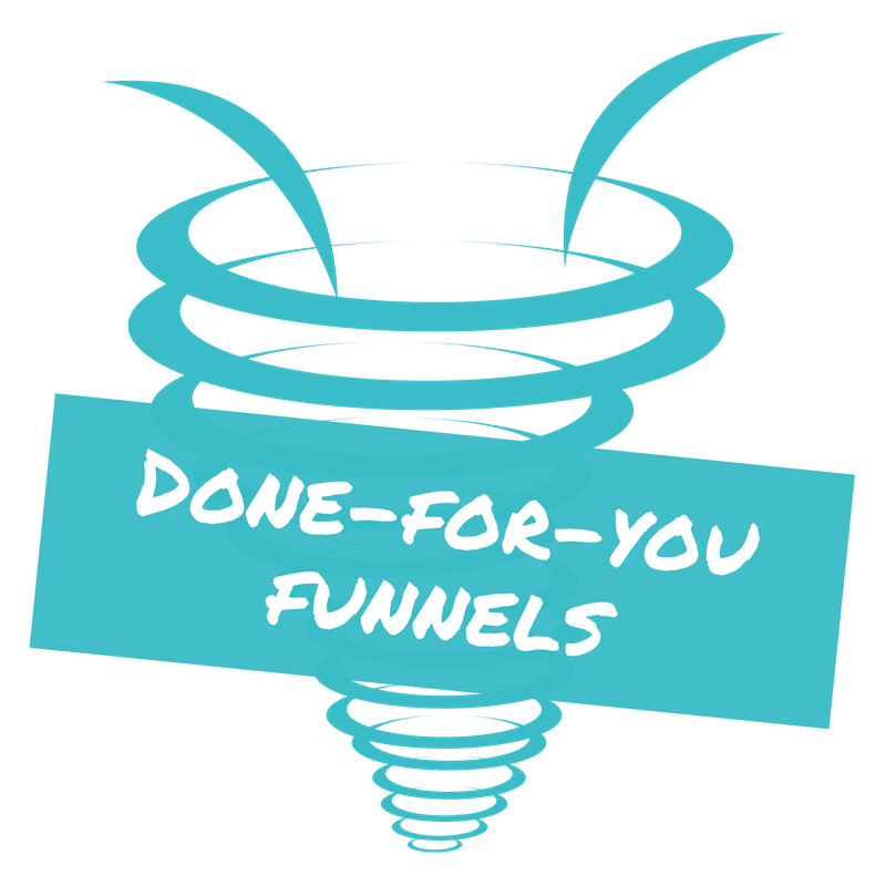Dot funnel png. Done for you funnels
