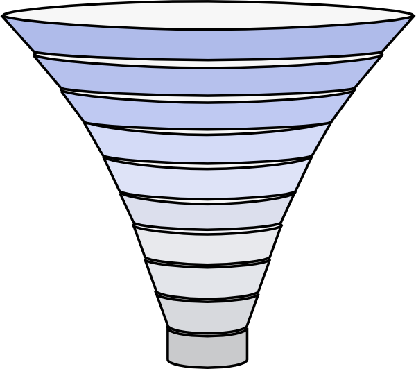 Funnel png. Tier blue filter clip