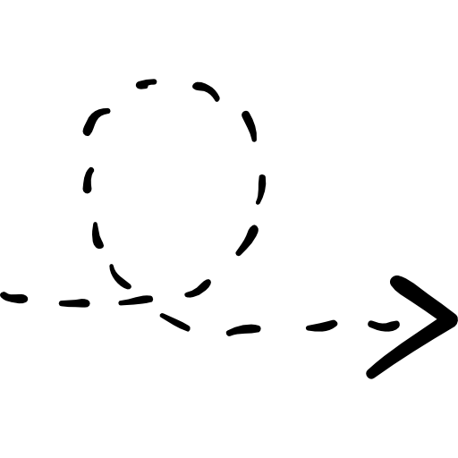 Dotted line arrow png. Rotated right with broken