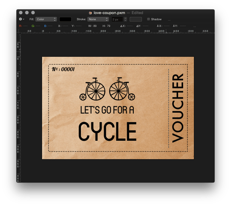 Dotted square coupon png. Pixelmator tip how to