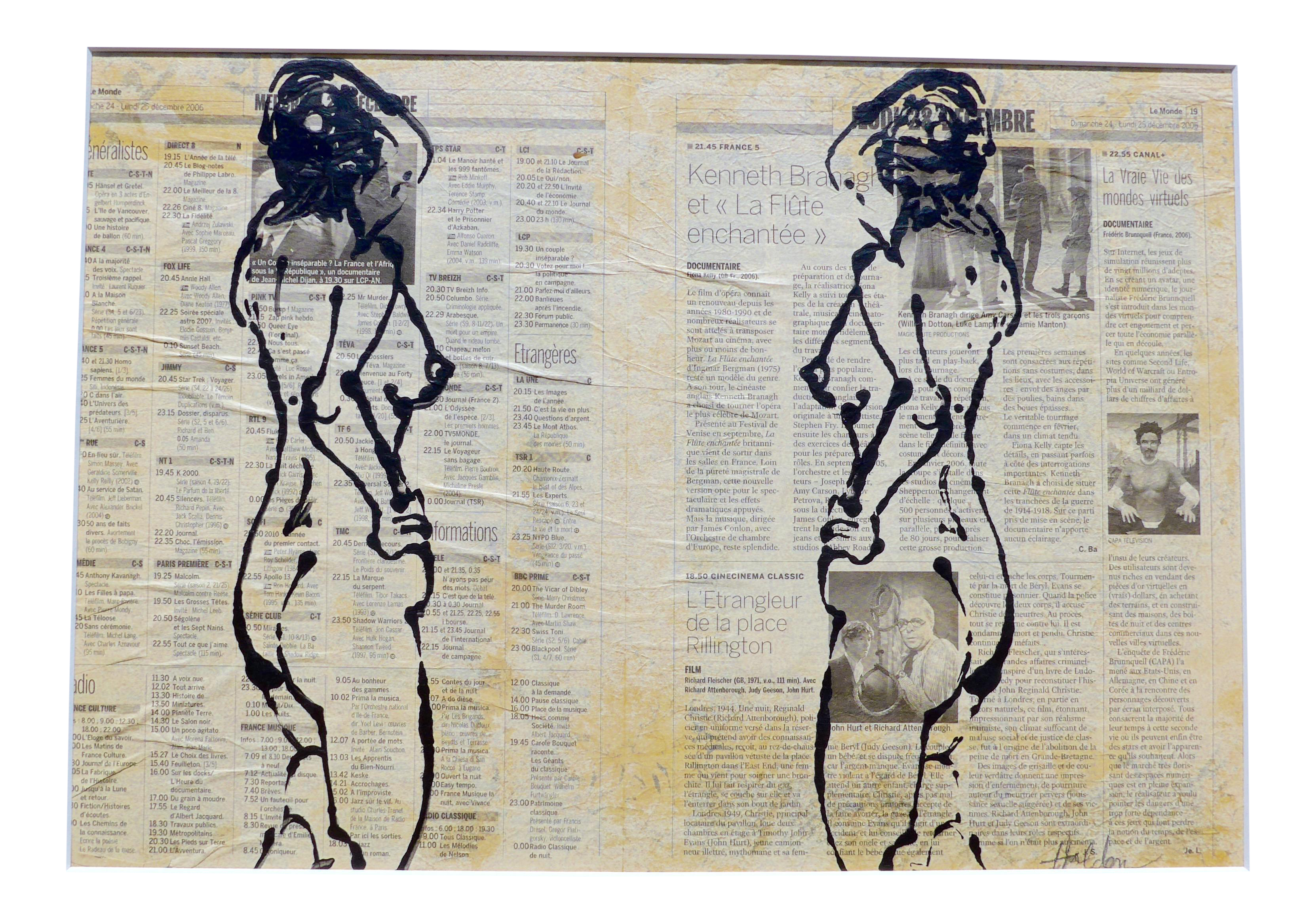 Double drawing. Models by martha holden