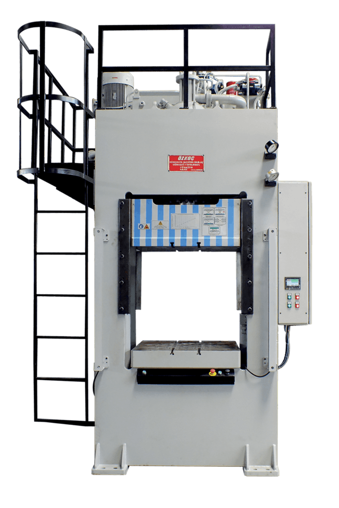 Double drawing deep. Hydraulic effect conventional press