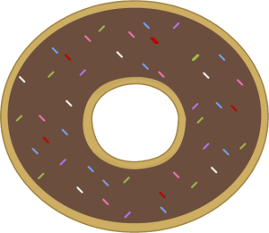 Sprinkles clipart frosted cookie. Donut cliparts clip art