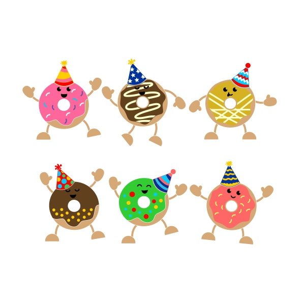 Party clipart donut. Cuttable design