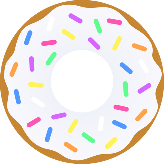 Doughnut clipart party. Vanilla donut with sprinkles