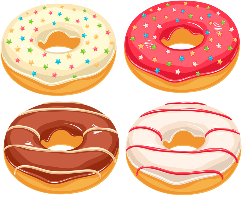 pastry drawing junk food
