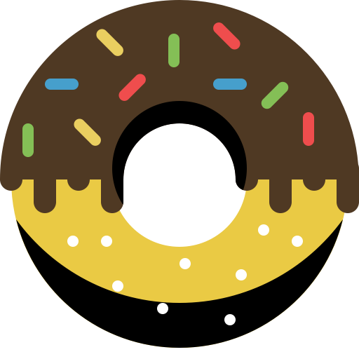 Donuts vector simple. Donut chocolate icon with