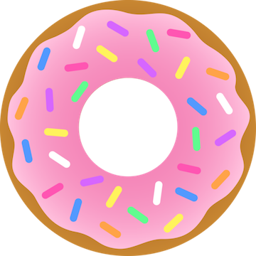 Donut vector png. Strawberry sprinkles free images