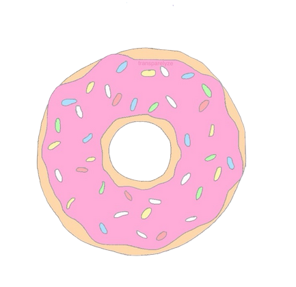 Doughnut transparent pink. Image about in pastel
