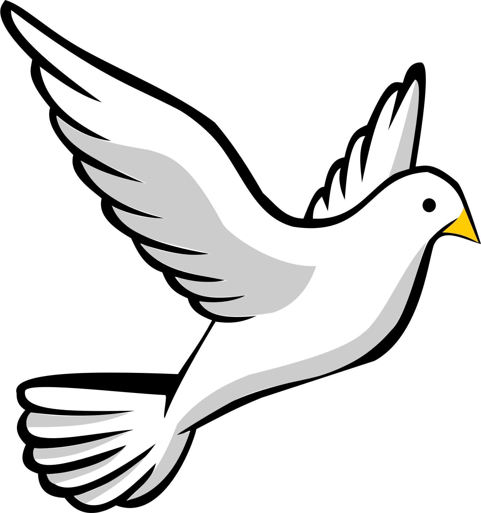 Christian vector dove. Clipart