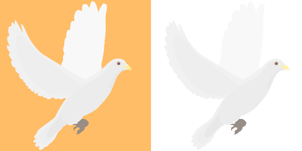 Vector doves merpati. Religious emblems clipart