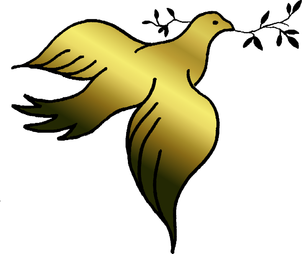 Doves clipart yellow. Gold dove