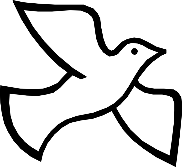Christian vector dove. Holy trinity spirit image