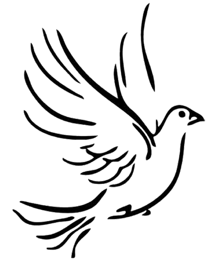 Doves clipart template. White drawing at getdrawings