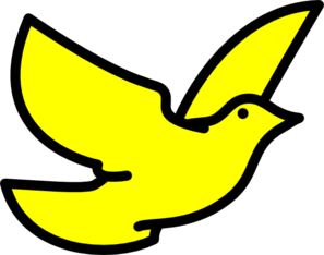Doves clipart yellow. Dove clip art at