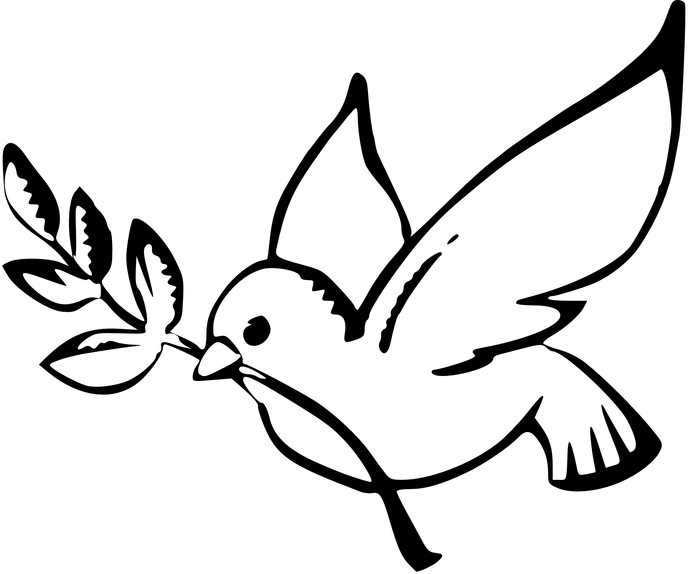 Vector doves funeral dove. Line drawing clipart best