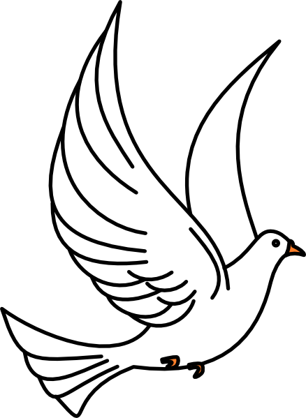 Vector doves mourning dove. Flying clip art online