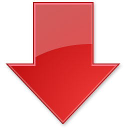 Red arrow png transparent. Down stickpng