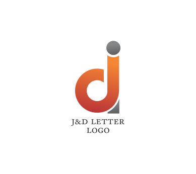 It vector psd. J d letter logo