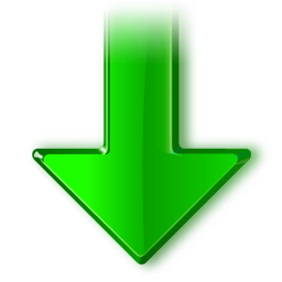 Download arrow icon png. Free downloads gradient green