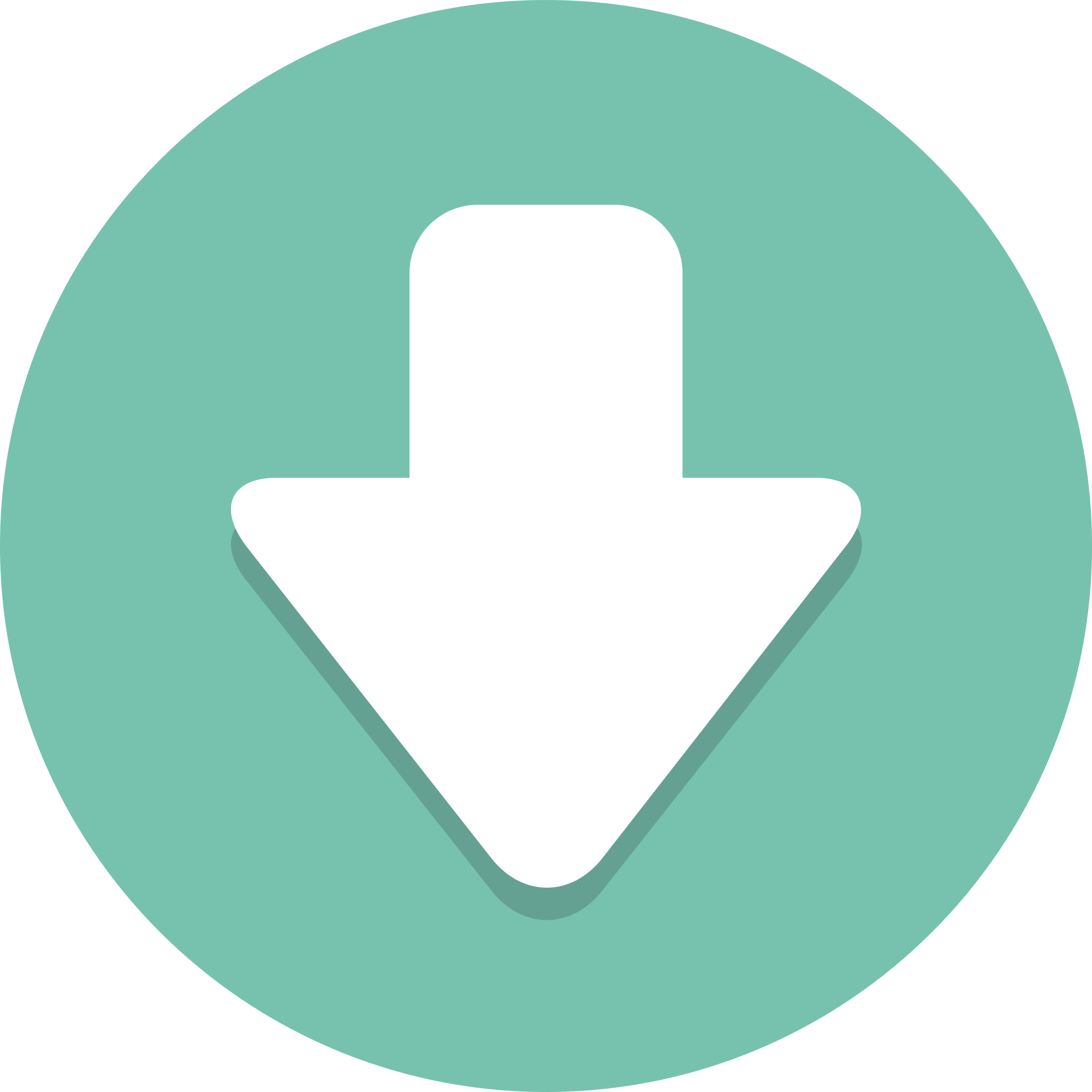 Download arrow icon png. File circle icons down