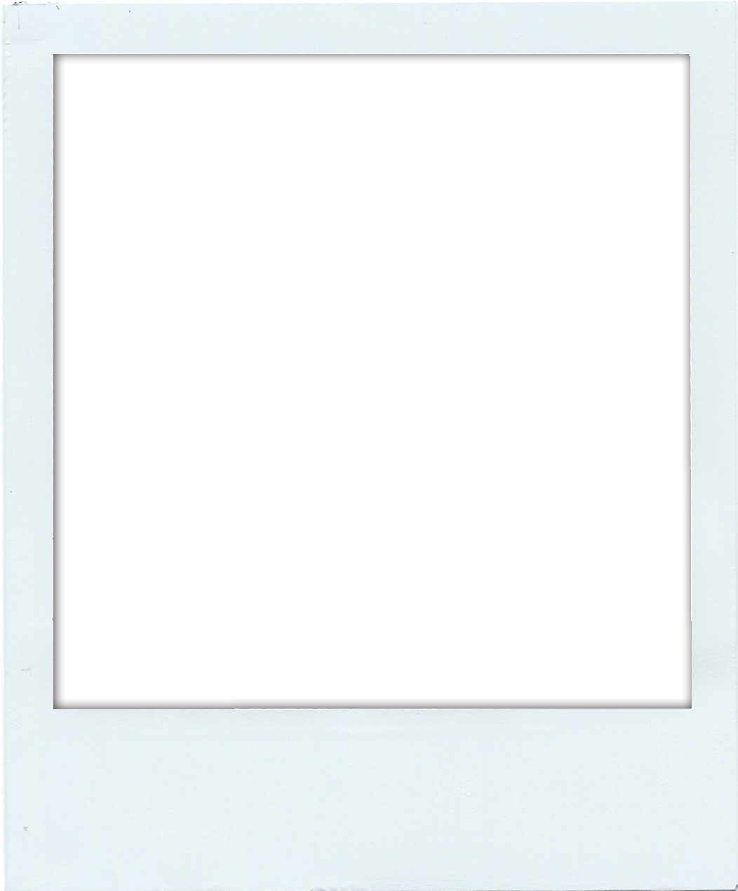 Polaroid template png. Faux frame download and