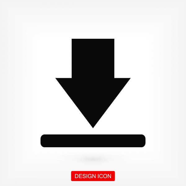 Download icon. Stock vector illustration