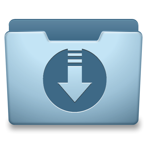 Downloading png files. Ocean blue downloads icon