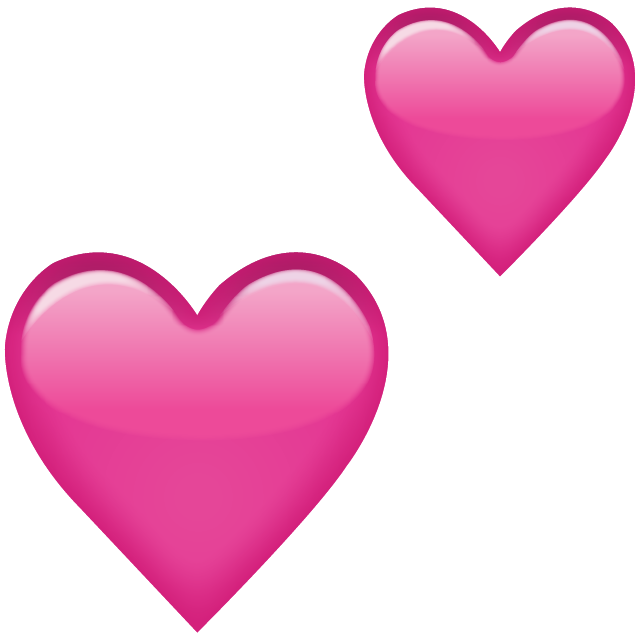 Download png files for free. Two pink hearts emoji