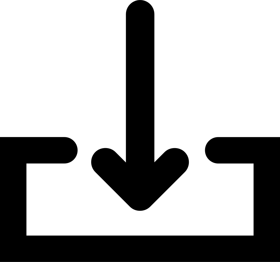 Download png icon. Arrow with tray svg
