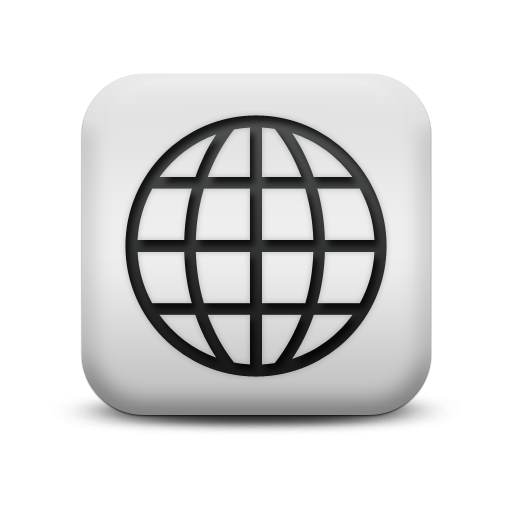 Website icon png white. Free download world wide
