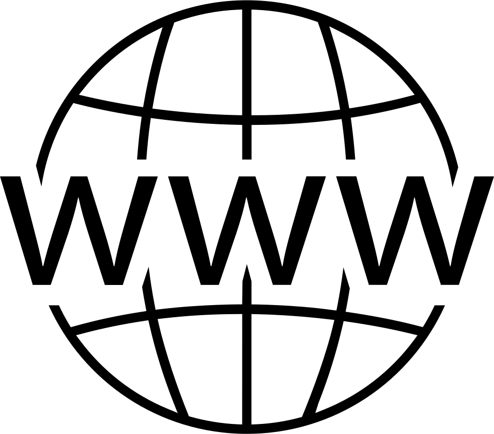 Website logo png. World wide web svg
