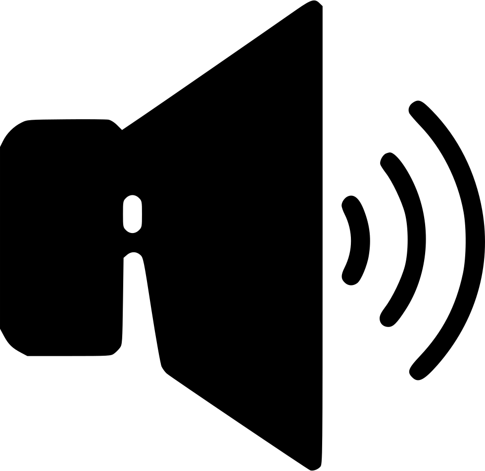 Download png latest music 2015. Loud speaker svg icon