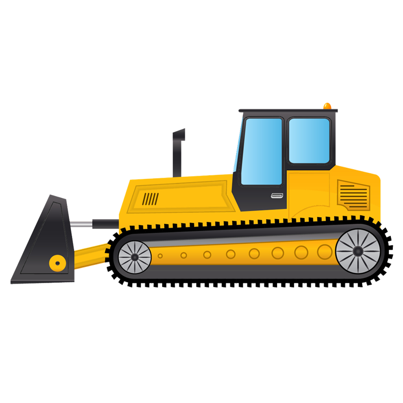 bulldozer library download. Backhoe clipart plant machinery clip art download