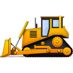 Yellow bulldozer icon png. Backhoe clipart construction birthday clipart royalty free