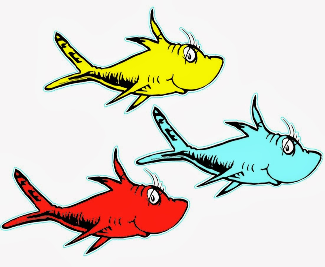 Image of school fish. Dr seuss clipart clipart transparent download