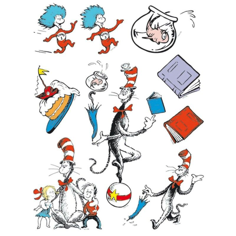Pin by jessica swiebocki. Dr seuss clipart cat in hat png royalty free download