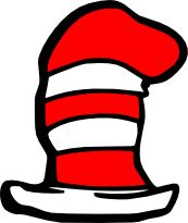 Dr seuss clipart cat in hat. Free printable the either