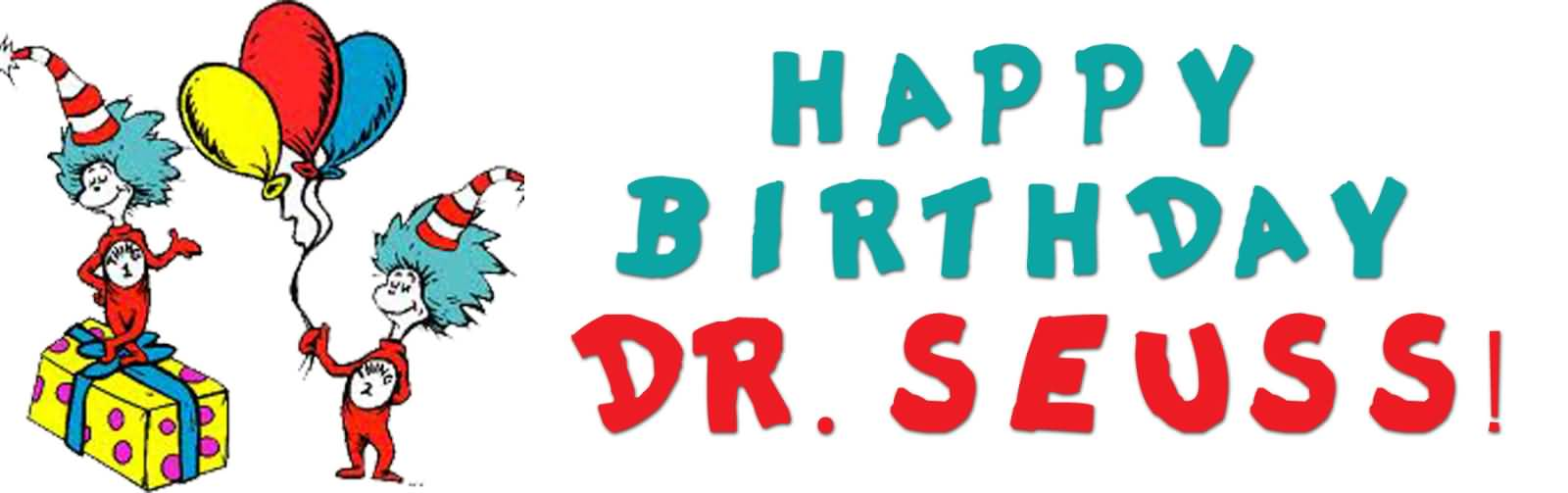 Dr seuss clipart poster. Happy birthday facebook cover