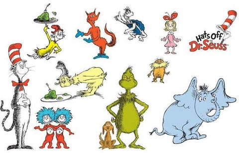 Characters x. Dr seuss clipart poster clip free
