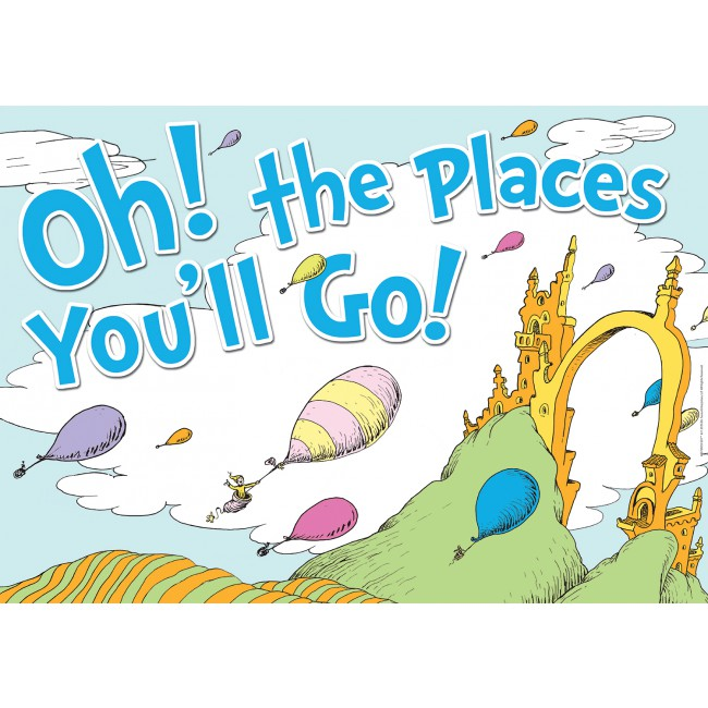 Dr seuss clipart poster. Oh the places you