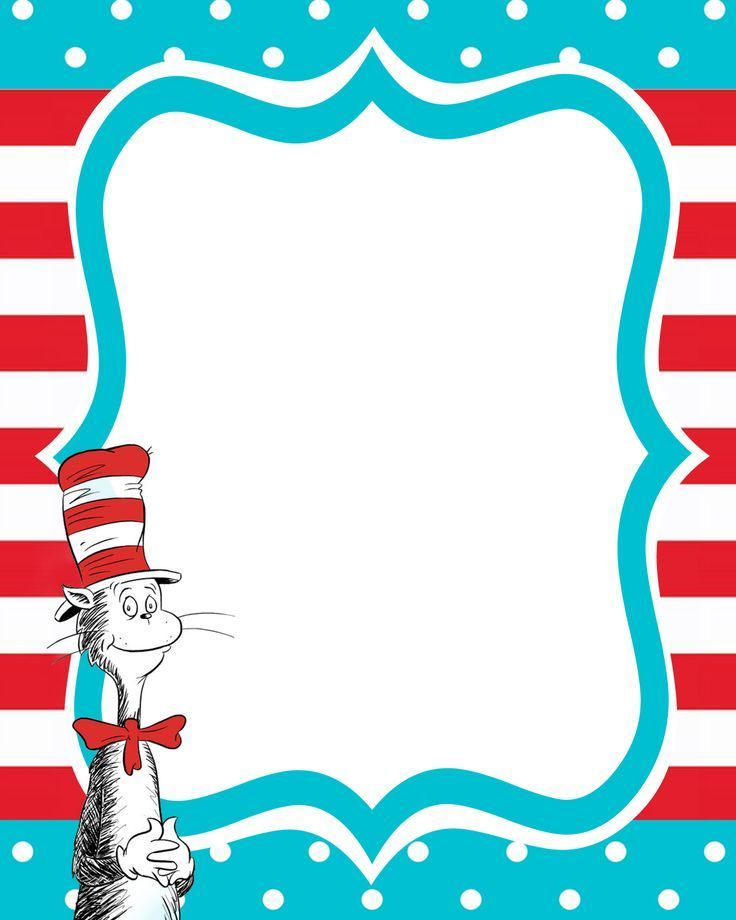 Dr seuss clipart template. Free printable templates prefect