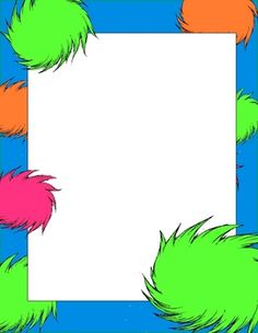 Dr seuss clipart template. Writing papers free pinterest